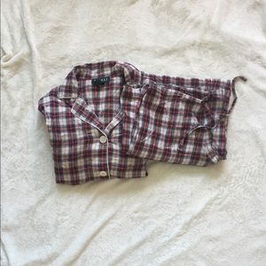 Red plaid Ralph Lauren Pajama Set